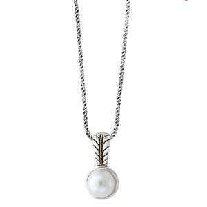 Effy 18K gold and sterling silver pearl pendant
